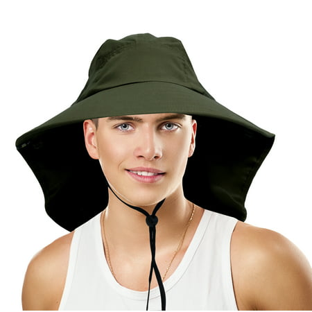 ffc45eae797 Sun Blocker Outdoor Sun Protection Fishing Cap with Neck Flap