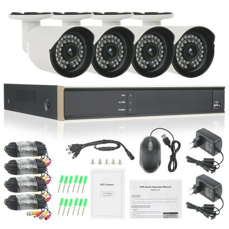 TOPCHANCES 4CH 1080P HDMI DVR Outdoor Dome CCTV Video Home Security 4Pcs 720P Weatherproof Camera System Surveillance Kits