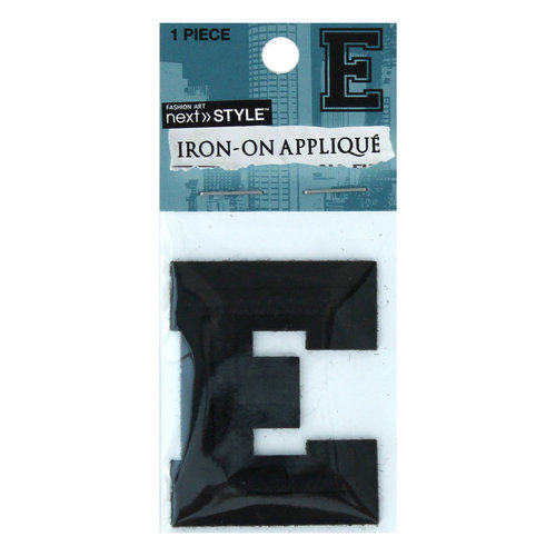 """Next Style Single Embroidery Letter, """"E"""", Black"""