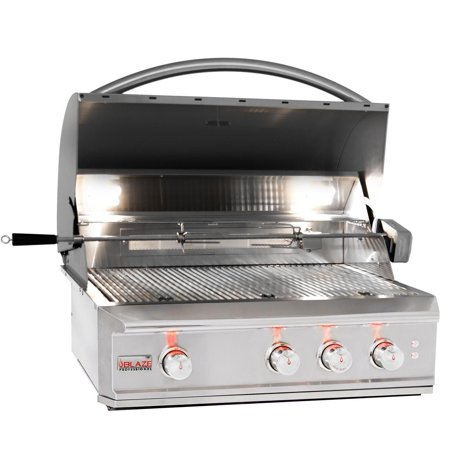 Image of Blaze Professional 34-inch 3-burner Built-in Natural Gas Grill With Rear Infrared Burner