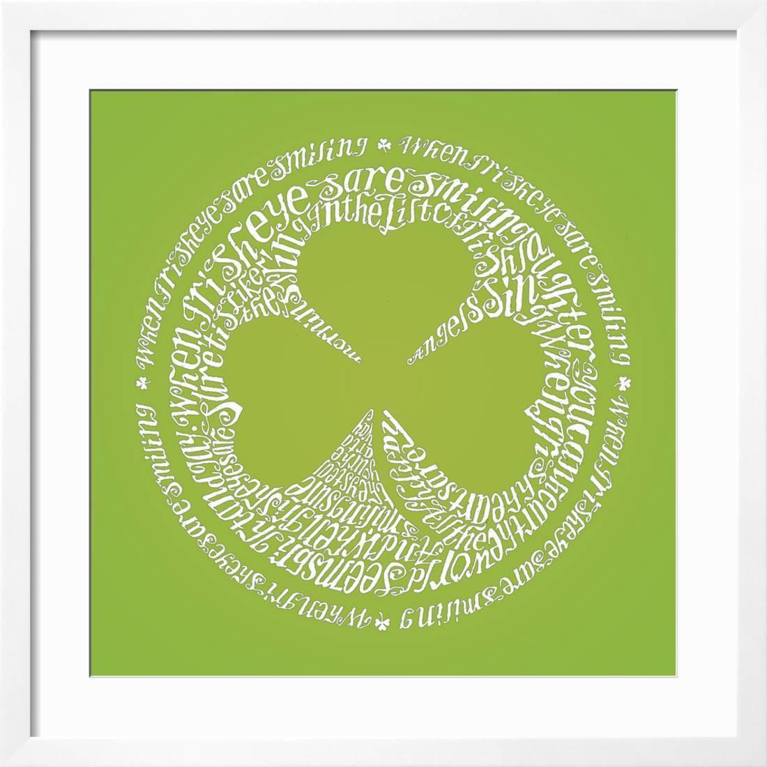 C Irish Shamrock Motif Art Print Home Decor Wall Art Poster