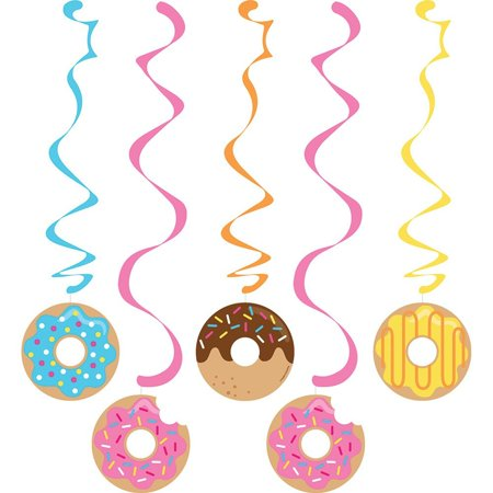 Donut Party Dizzy Danglers (5 ct), One Set of 5 Donut Party Dizzy Danglers By Fun Express (Donut Party Supplies)