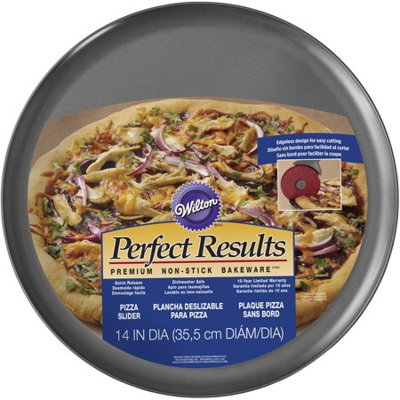 Wilton Perfect Results Non-Stick Pizza Slider Pan, 14 in.