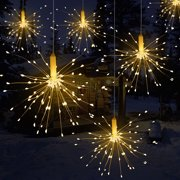 120 Led Firework LED Copper Wire String Hanging Starburst Fairy Strip Light Outdoor Wedding Party Home Decor,1 pack