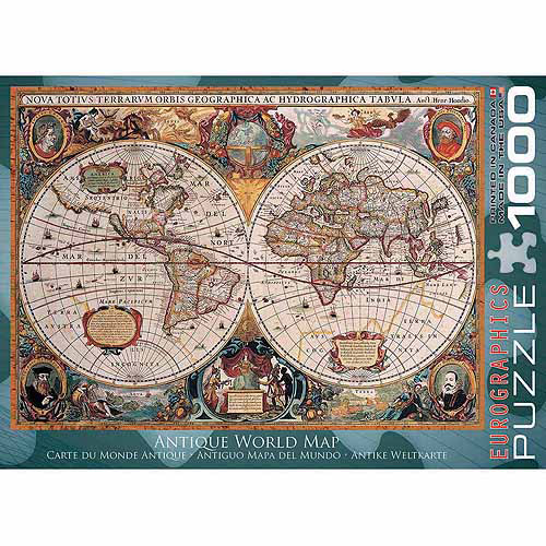 EuroGraphics Antique World Map 1000-Piece Puzzle