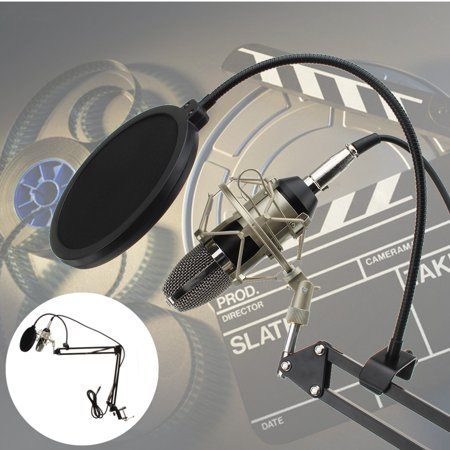 Condenser Microphone Mic Clip Studio Audio Recording Table Arm Stand Set Gift - image 12 de 12