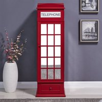 Overstock.com deals on Harper Blvd Red Phone Booth Jewelry Storage Armoire