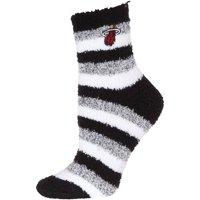 Miami Heat Women's Fuzzy Steps Quarter-Length Socks - M