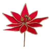 Darice Christmas Floral Red Poinsettia Pick 7 x 12 Inches
