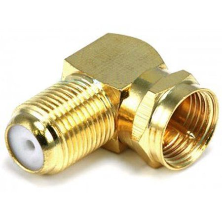 Wideskall® Gold Plated 90 Degree Right Angle F-Type Coaxial Connector Adapter...