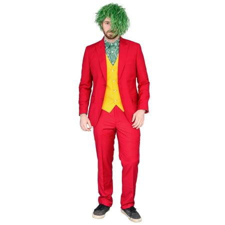 Twisty The Clown Costume For Halloween (Adult Deluxe Joker Psycho Clown Halloween Costume Complete)