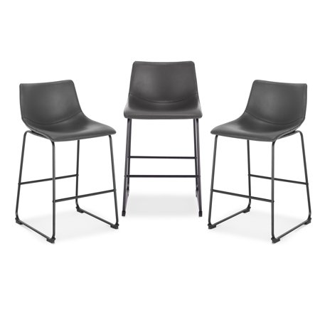Awe Inspiring Poly And Bark Brinley Counter Stool In Grey Set Of 3 Pdpeps Interior Chair Design Pdpepsorg