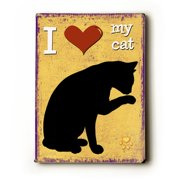 Artehouse LLC I Heart My Cat by Kate Ward Thacker Graphic Art Plaque