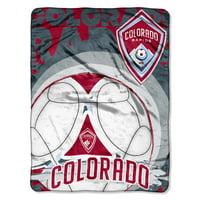"Colorado Rapids The Northwest Company 46"" x 60"" Techno Micro Raschel Throw Blanket"