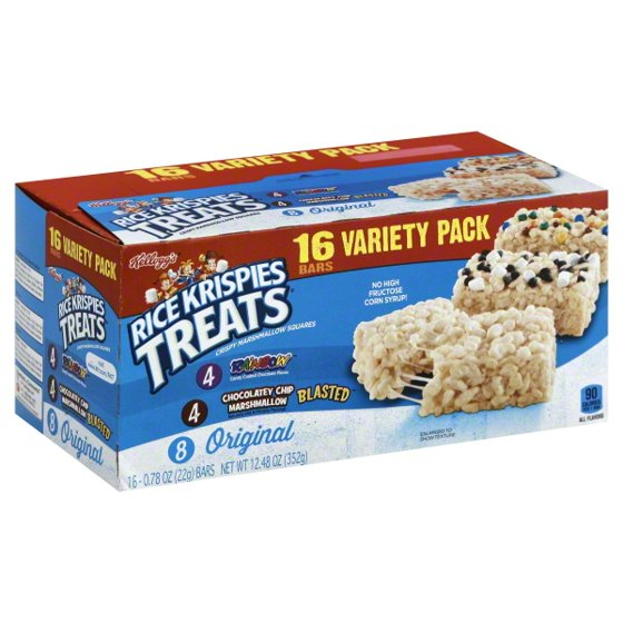 Kellogg's Rice Krispies Treats Variety Pack, 16 ct, 12 48 oz