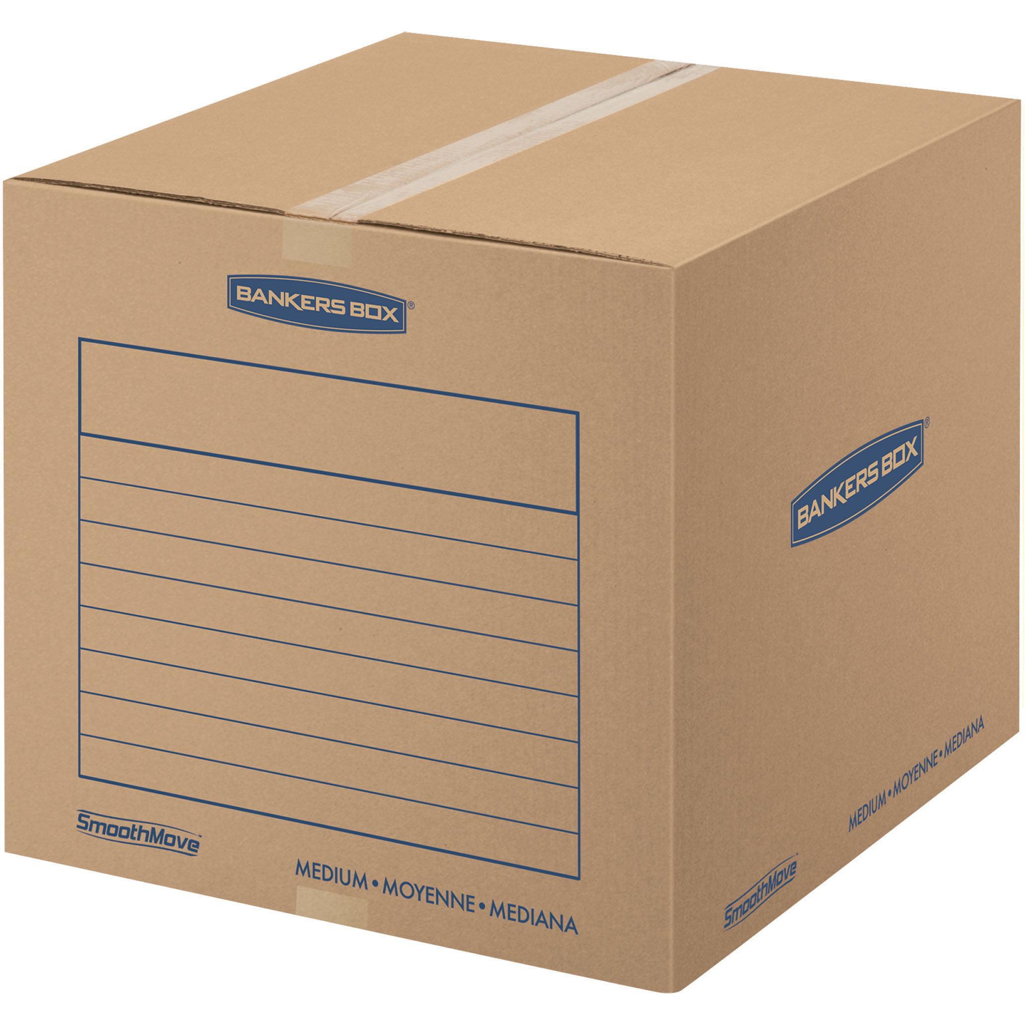 Bankers Box SmoothMove Basic Storage and Moving Boxes, Medium, 20pk