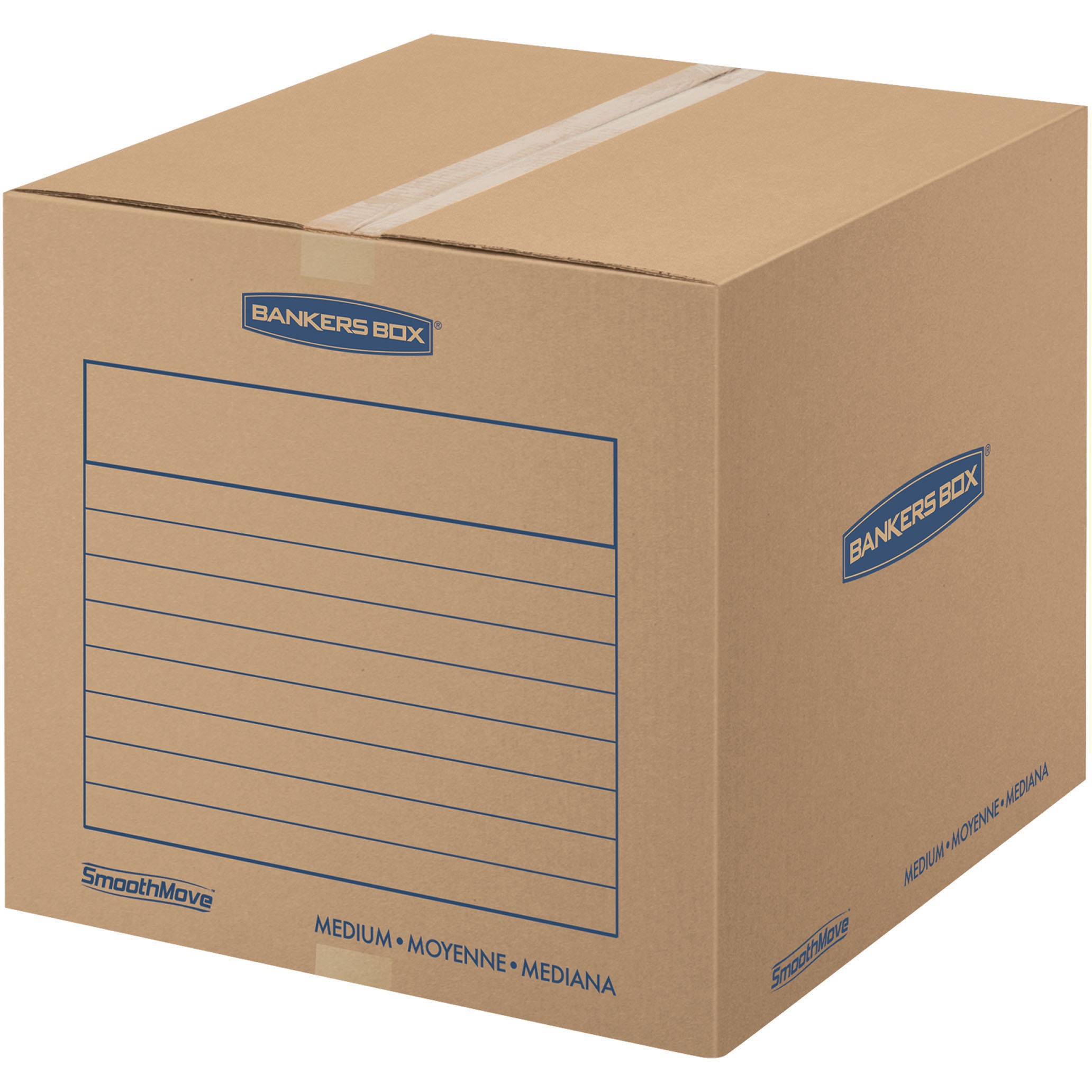 Bankers Box SmoothMove Basic Storage and Moving Boxes, Medium, 20pk