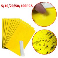 5/10/20/50Pcs Dual-Sided Yellow Sticky Traps for Flying Plant Insect Like Fungus Gnats, Aphids, Whiteflies, Leafminers - (6x8 Inches)