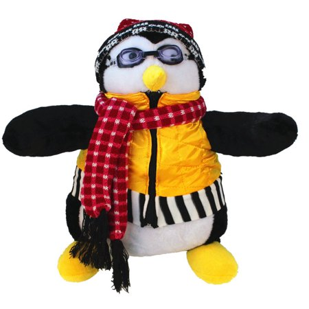 Joey's Huggsy Penguin Plush Doll Friends Hugsy Joey Hat Scarf Goggles 18