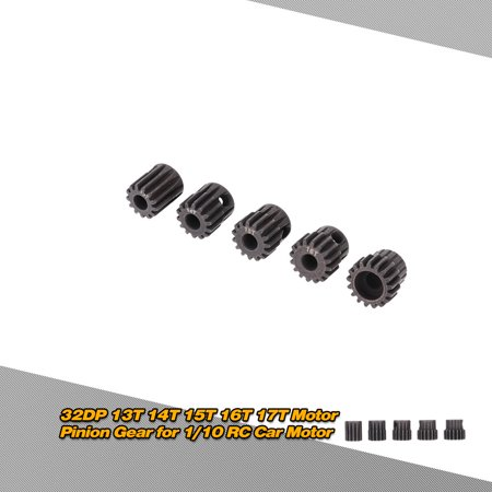 Hight Quality GoolRC 5Pcs 32DP 5mm 13T 14T 15T 16T 17T Motor Pinion Gear 17t Steel Pinion Gear