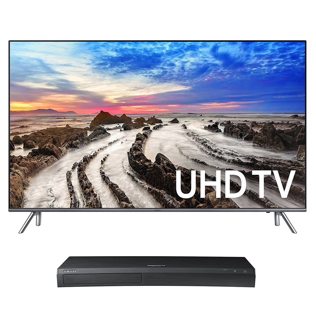 "Samsung UN75MU8000 75"" 4K UHD HDR Smart TV with UBD-M9500 4K Ultra HD Blu-ray Player"