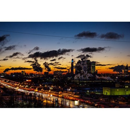 Canvas Print Moscow City Dawn 2017 Early in The Morning Stretched Canvas 10 x 14