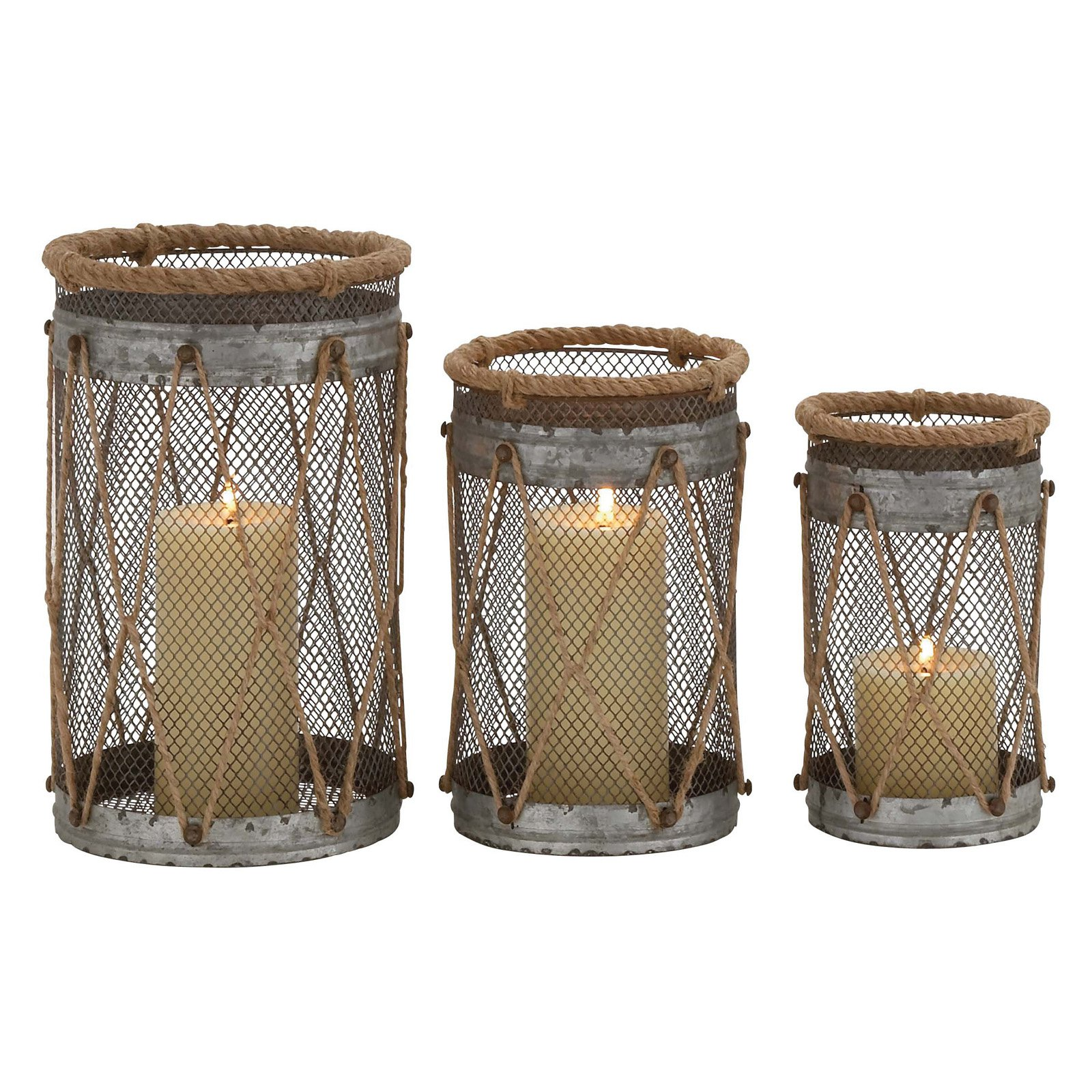 Attractive Styled Metal Candle Holder by Benzara