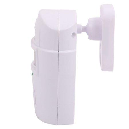Infrared Detecting Human Sensor Alarm Security System Remote Control White - image 2 de 3