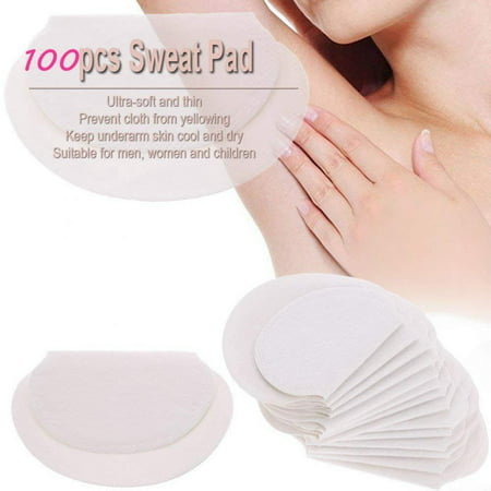 Zerone 100pcs / 50Pair Disposable Underarm Sweat Pads Self Adhesive Absorb Sweat Armpits Perspiration Pads (The Best Deodorant For Sweaty Armpits)