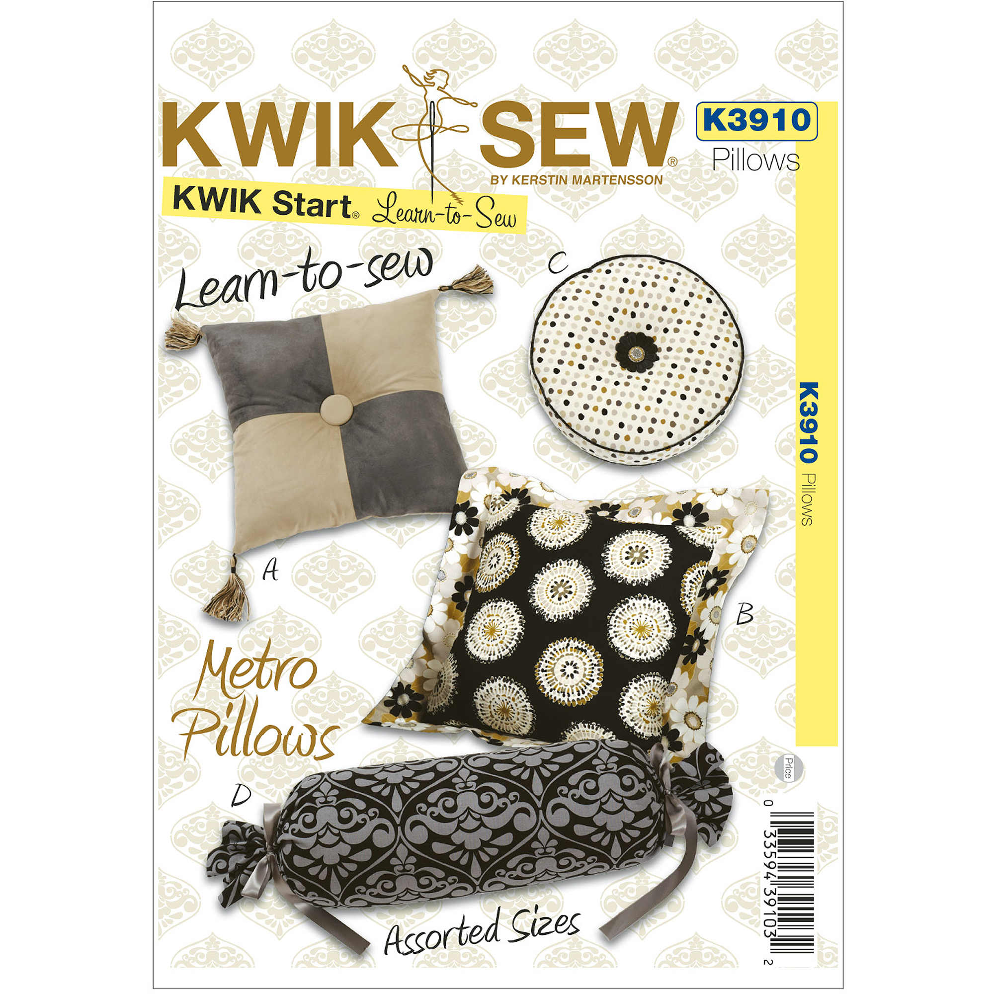 Kwik Sew Pattern Metro Pillows