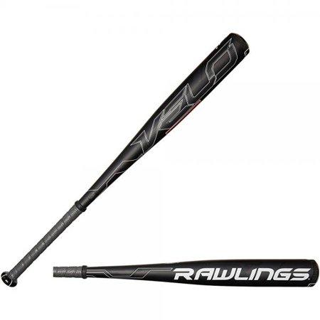 rawlings men's senior league velo baseball bat, black,