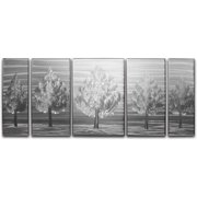 Metal Artscape Five Little Trees 5 Piece Graphic Art Plaque Set