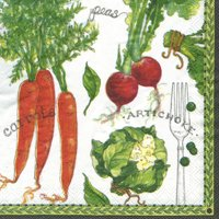 Summer 'Garden Produce' Lunch Napkins (36ct)