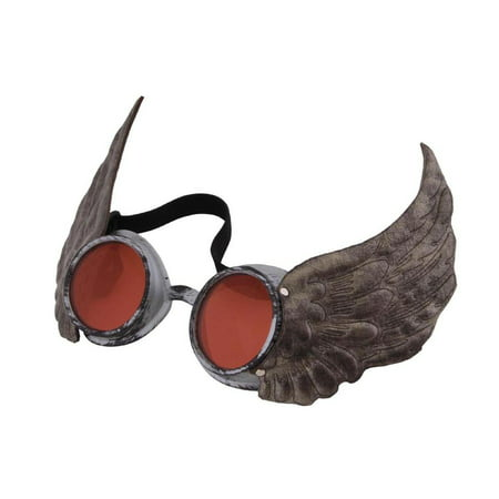Steampunk Silver Winged Costume Goggles Adult One Size](Steampunk For Men)