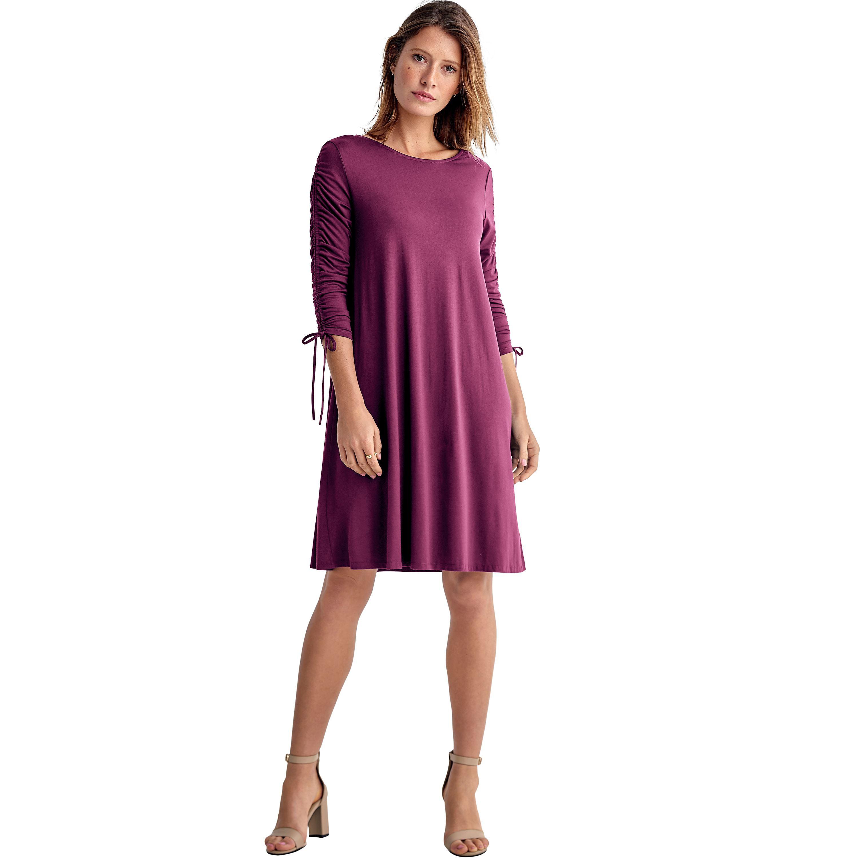e0b00a3bb64 Ellos - Plus Size Drawstring Sleeve Knit Dress - Walmart.com