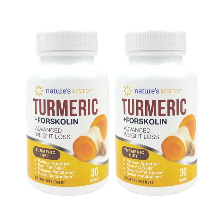 Turmeric Forskolin Advanced Weight Loss Dietary Supplement 2 Pack