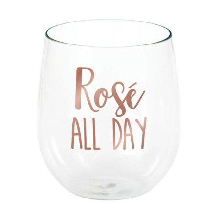 Rosé All Day 14 Oz Stemless Wine Glass ()