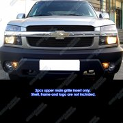 2001-2006 Chevy Avalanche With Body Cladding Black Billet Grille Grill  Insert