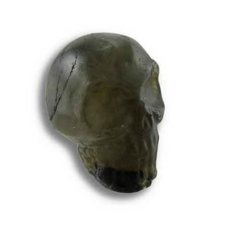 Beautiful Carved Labradorite Gemstone Skull 25mm 1 Inch ()