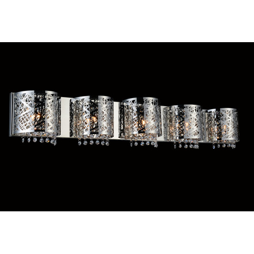 Crystal World 5 Light Wall Sconce