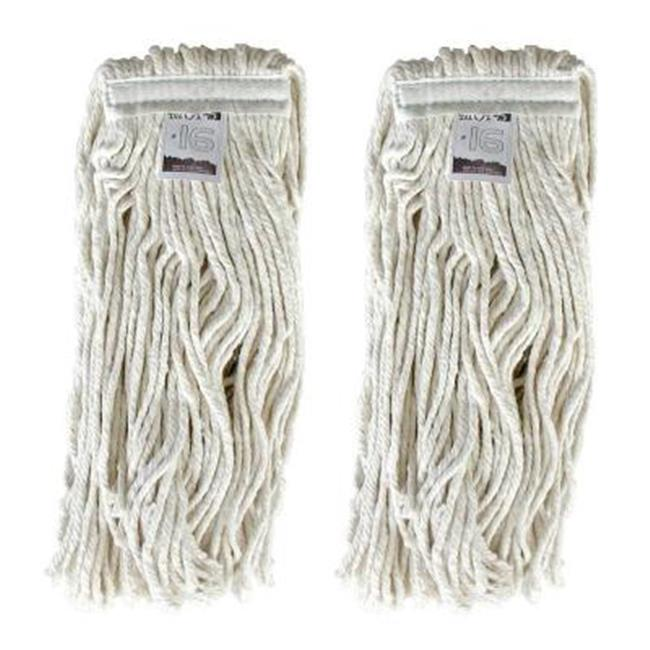 EmscoGroup 6500-2 No. 16, 4-Ply Cotton Mop Head With Cut-Ends, 11 oz. by EmscoGroup