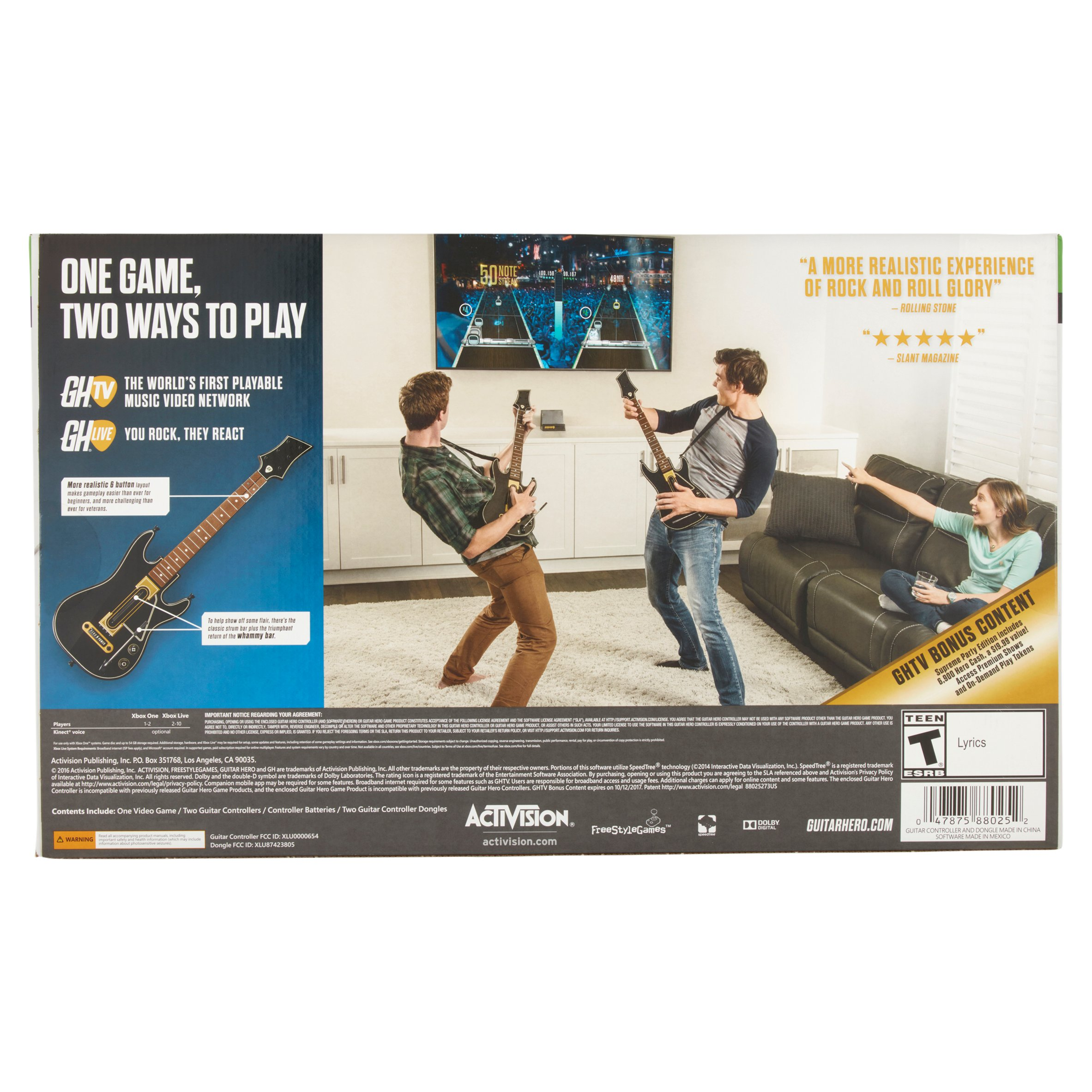 Guitar Hero Supreme Party Edition Bundle with 2 Guitar