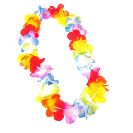 WGI Multicolor Flower Lei (Pack of 6), Made out of soft, colorful flowers By WeGlow International - Leis Flowers