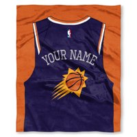 """NBA Phoenix Suns """"Jersey"""" Personalized Silk Touch Throw Blanket"""