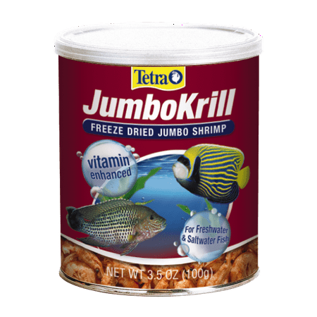 Tetra JumboKrill Freeze-Dried Jumbo Shrimp 3.5 Ounces