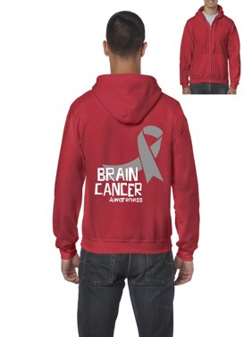 d613b514d Product Image Brain Cancer Awareness Men's Full-Zip Hooded Sweatshirt