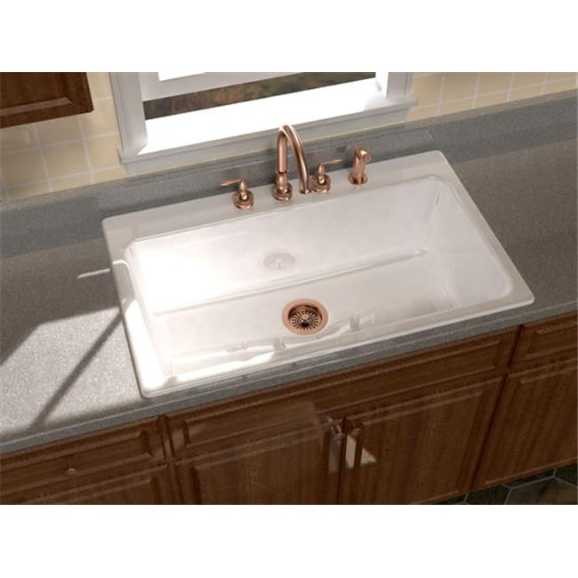 SONG S-8610-3-61 Legato 36 x 22 In. Kitchen Sink - Biscuit