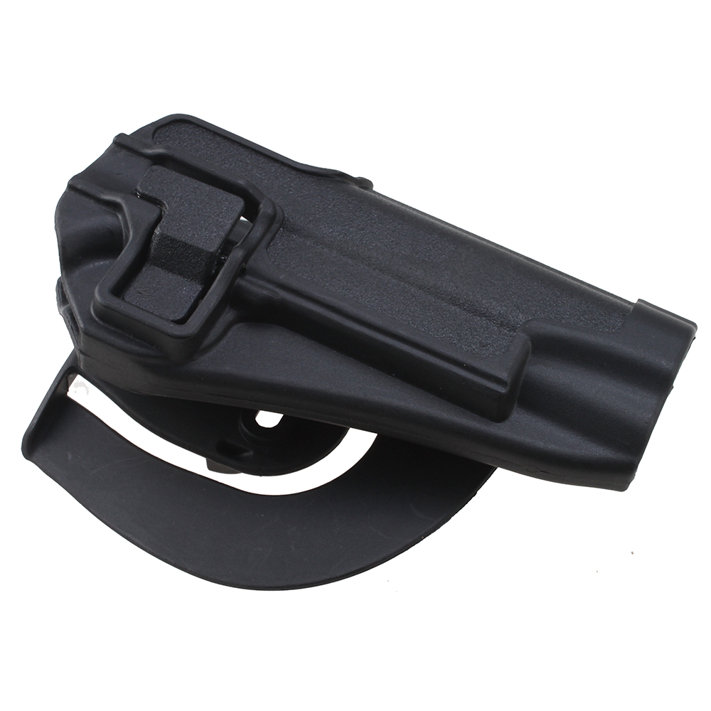 Image Quick Tactical Holster Right Hand Paddle Belt Holster for Colt 1911 Black