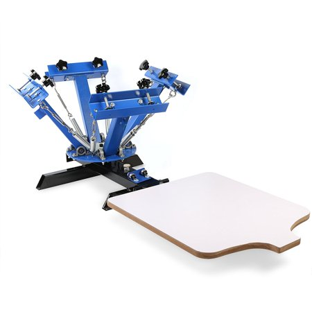 BestEquip Screen Printing Machine 1 Station 4 Color Screen Printing for T-shirt DIY Screen Printing Press Silk Screen Removable (4 Color Offset Printing Machine For Sale)