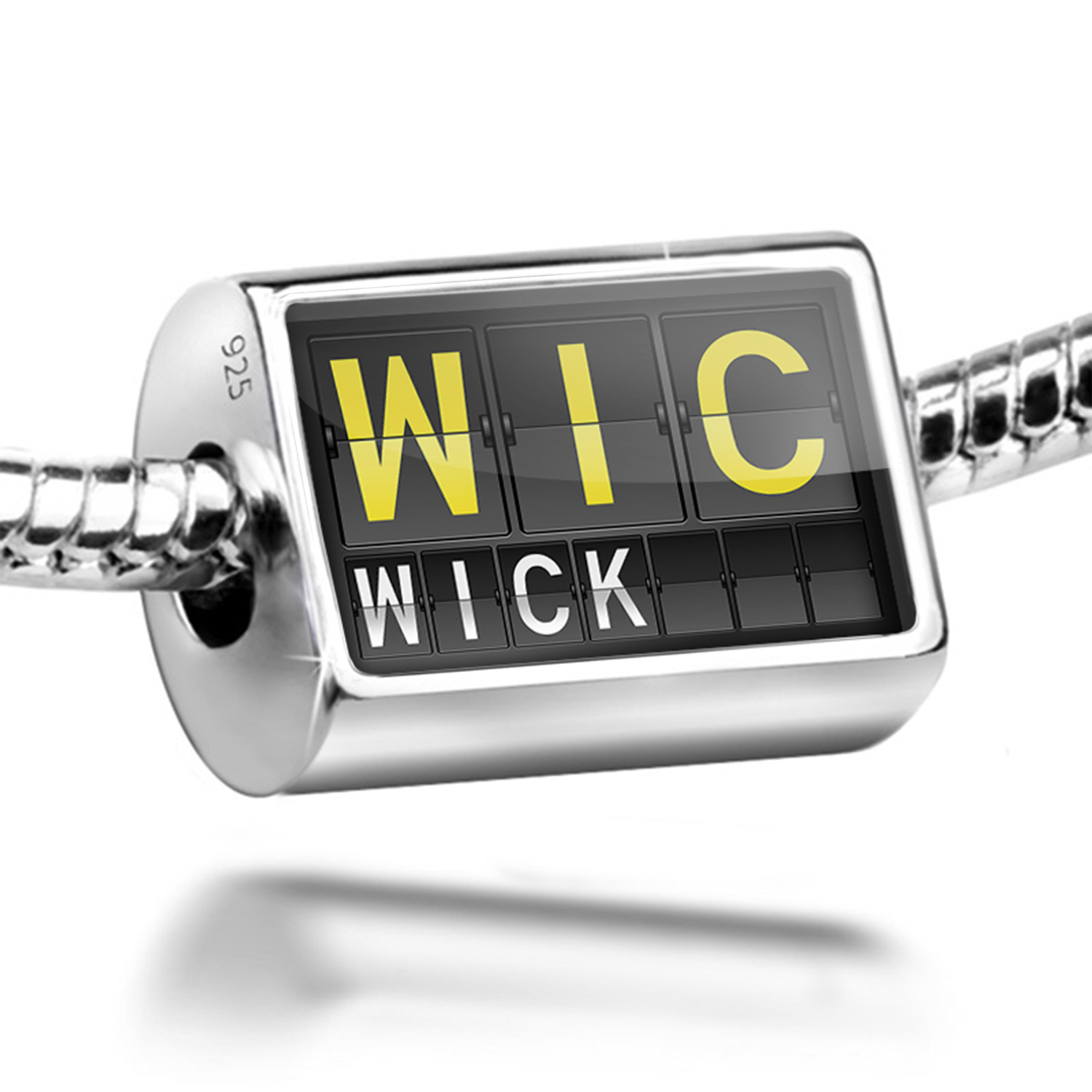 Bead WIC Airport Code for Wick Charm Fits All European Bracelets